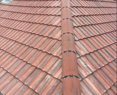 dry verge fitted to a home roof
