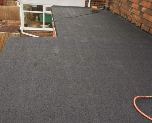 finished epmd flat roof in Corby Nottingham